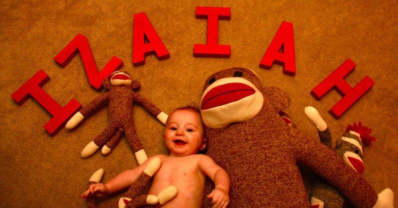 Half Birthday Izaiah - 6 months old