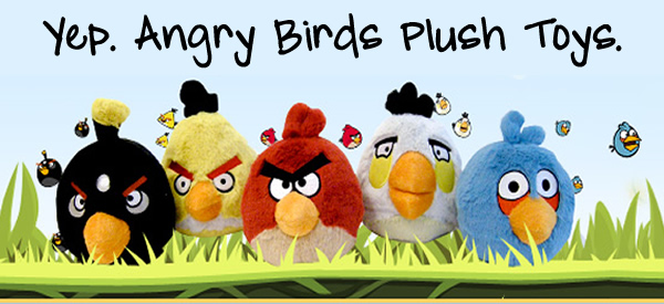 All Angry Birds Plush Toys : Angry birds plush toys just in time for christmas