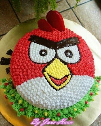 Angry Birds Cake - Red Bird