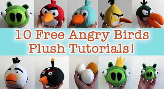 angry birds plush tutorials
