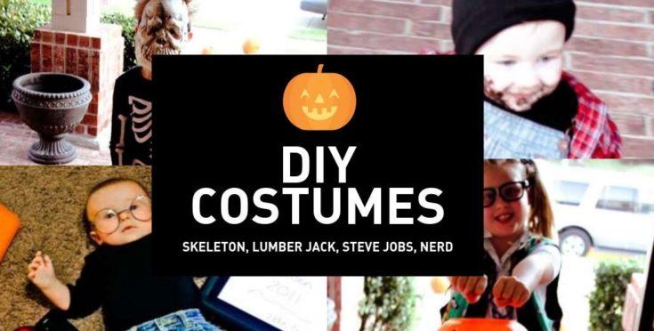 Our DIY Halloween Costumes - Lumberjack, Nerd, Skeleton and Steve Jobs