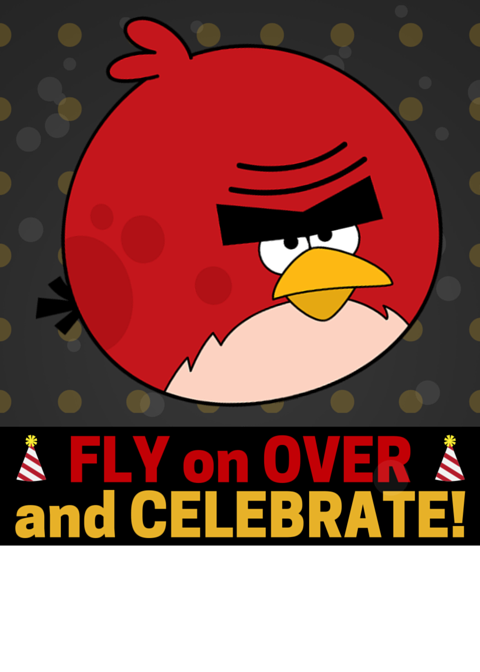 Free Angry Bird Invitation Fly on Over