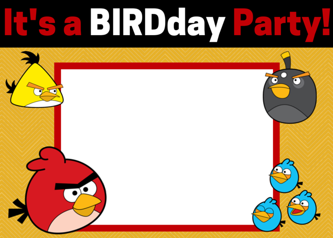 graphic regarding Angry Birds Printable titled No cost Indignant Birds Invites - Down load and Personalize This sort of