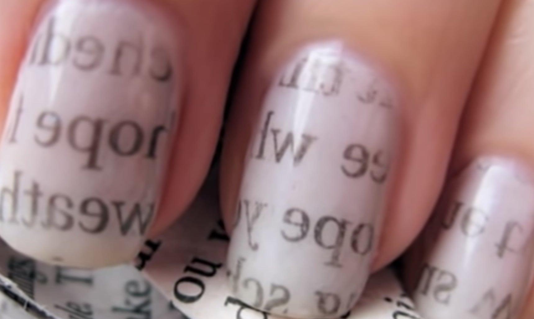 newspaper nails diy