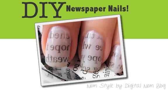 newspaper nails art tutorial