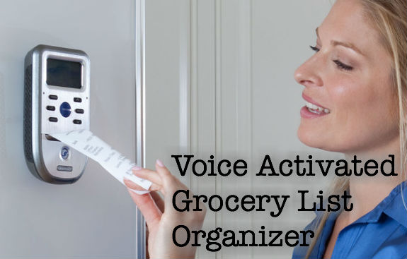 smart shopper grocery list organizer with voice technology