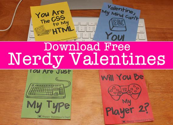 free nerdy valentines day cards