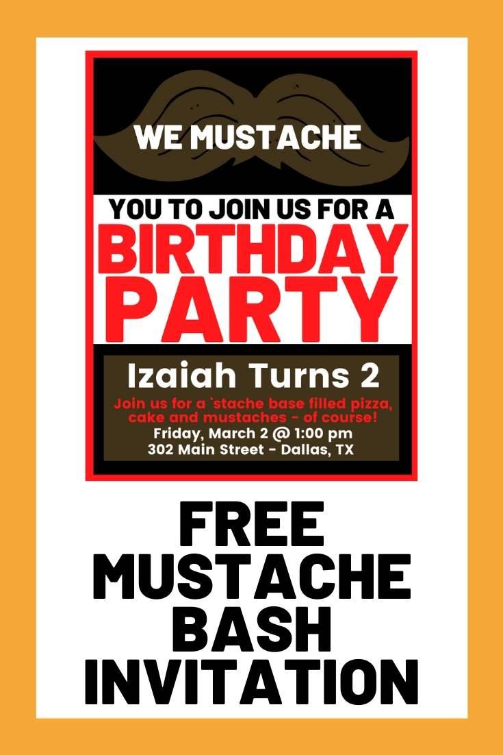 mustache bash free invite