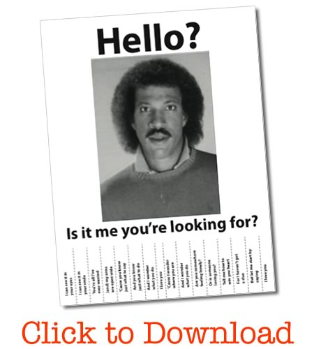 hello is it me you are looking for free printable