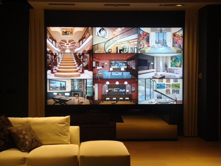 video wall for home security