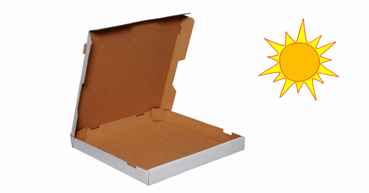 Solar Oven from a Pizza Box