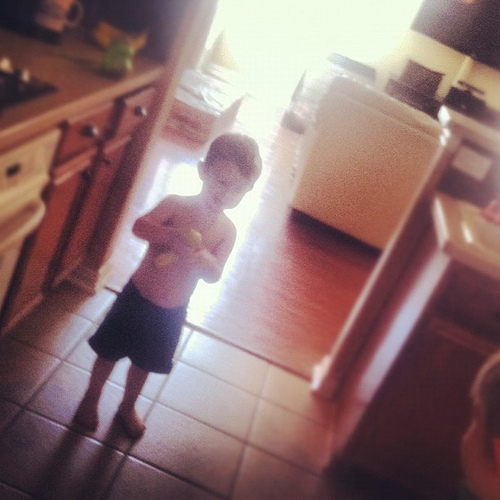 toddler who eats