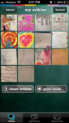 save your kids art digitally