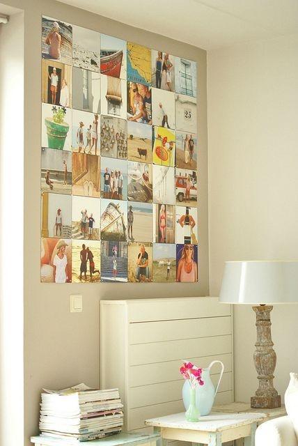 charming photo wall