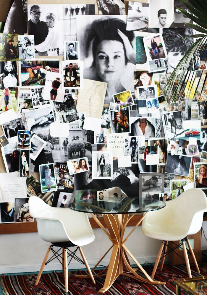 great photo wall - gallery wall idea