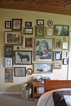 mix match photo gallery wall