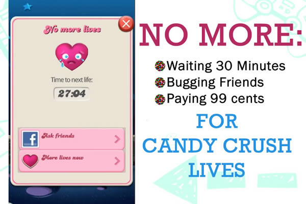 Candy Crush Saga How to Get Lives