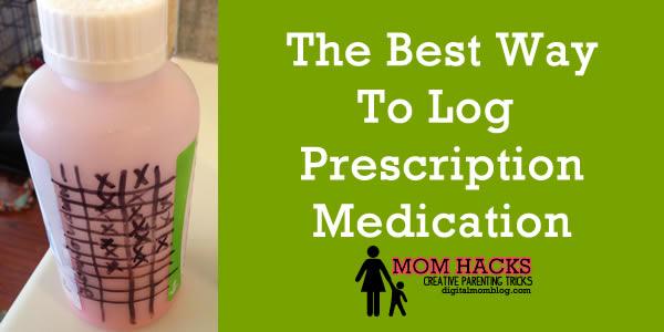 prescription medicine log