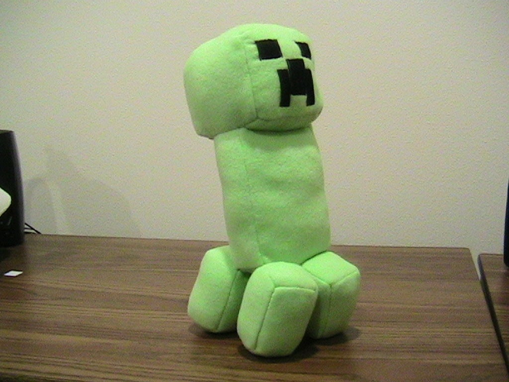 minecraft creeper doll