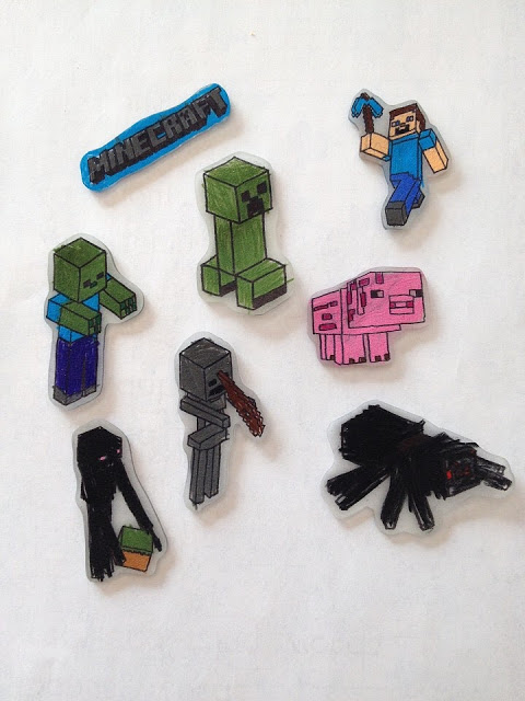 minecraft shrinky dinks