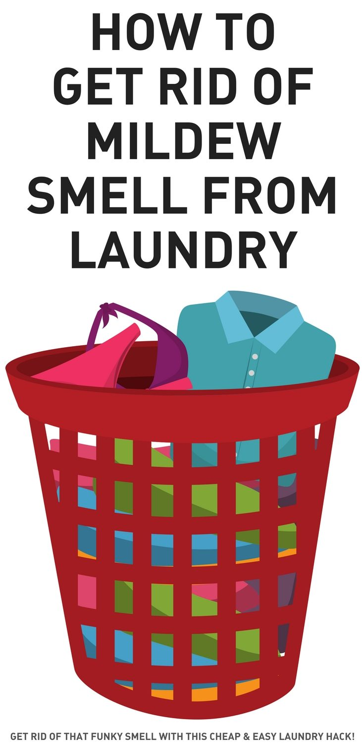 Remove mildew smell from laundry