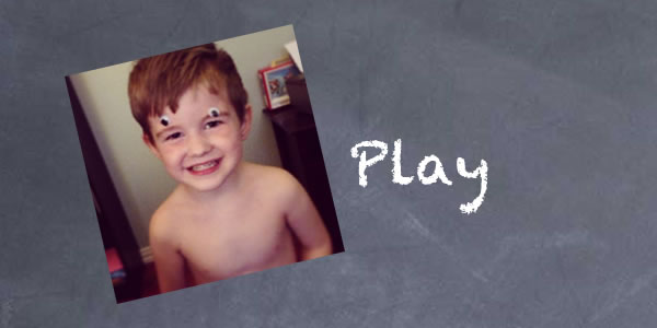 3 year old plays