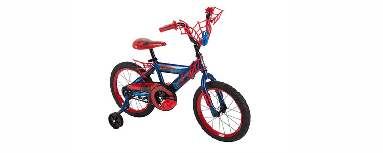 spideman toddler bike with training wheels