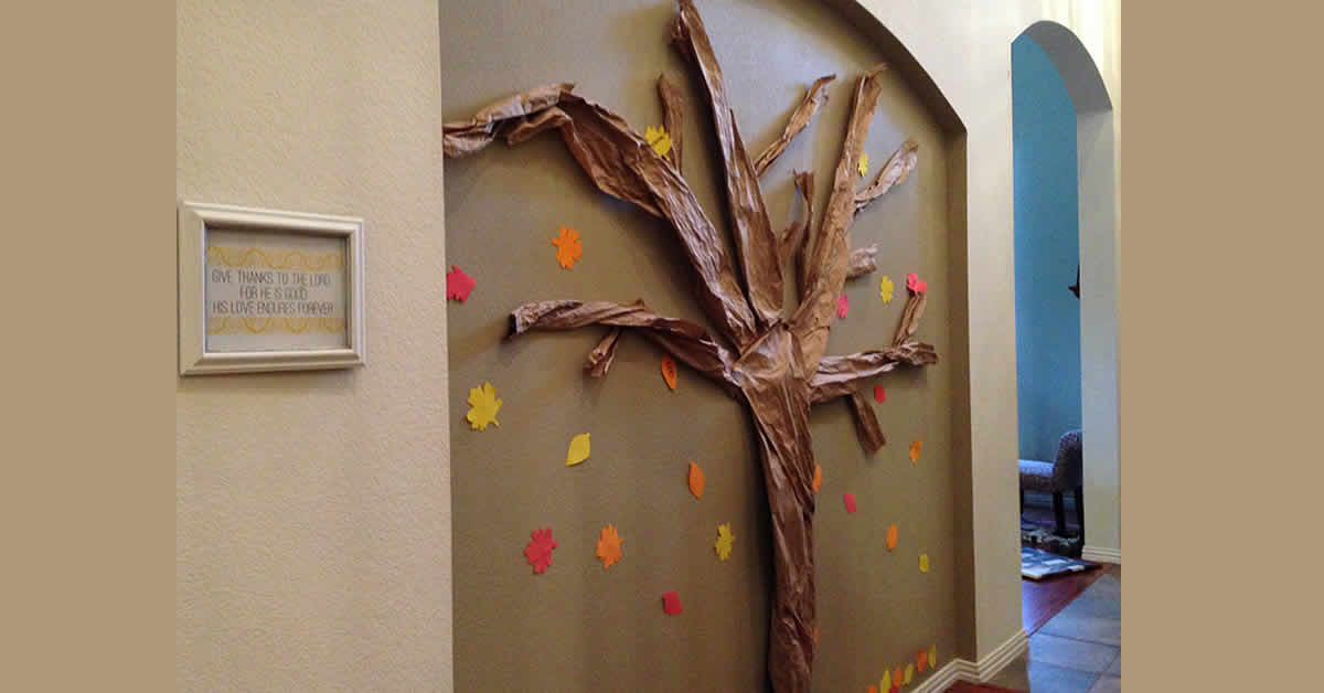Thanksgiving Thankful Tree for the Wall