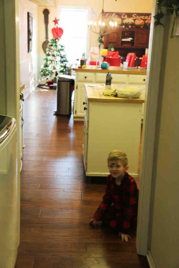 sugar high kid on christmas