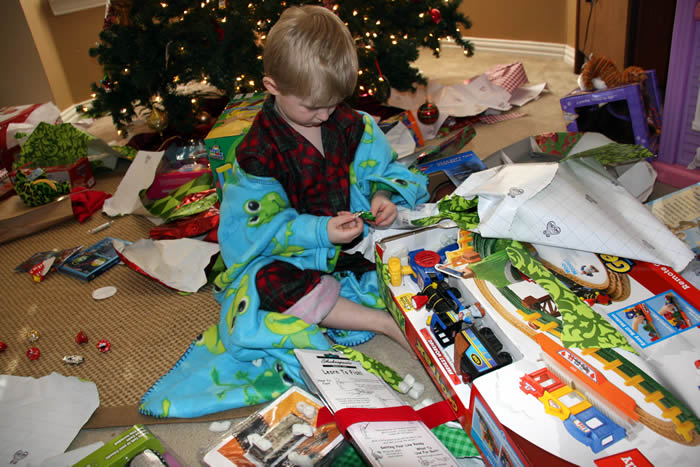 Christmas wrapping paper everywhere