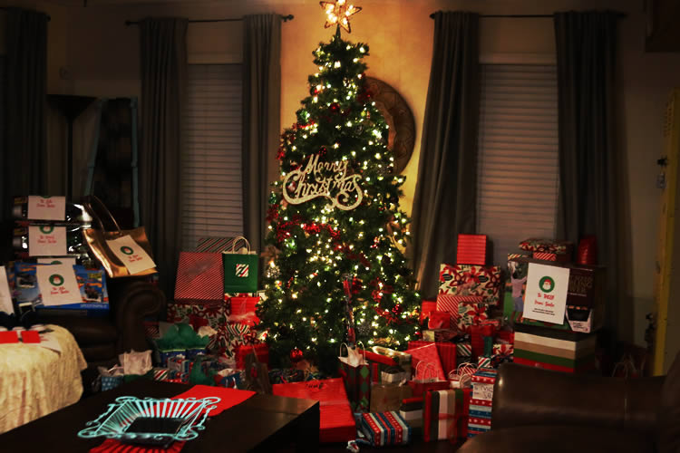 The Christmas Tree Before Opening Gifts - Christmas Day Photos