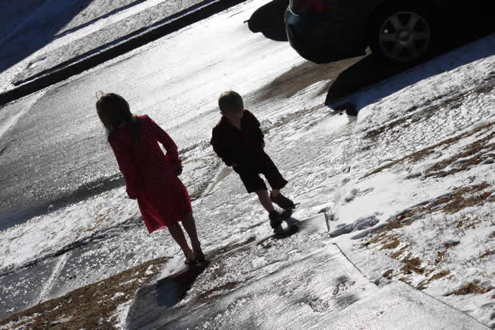 Christmas day snow and ice