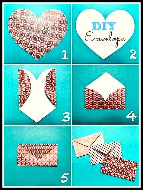 Valentines Day Heart Envelope