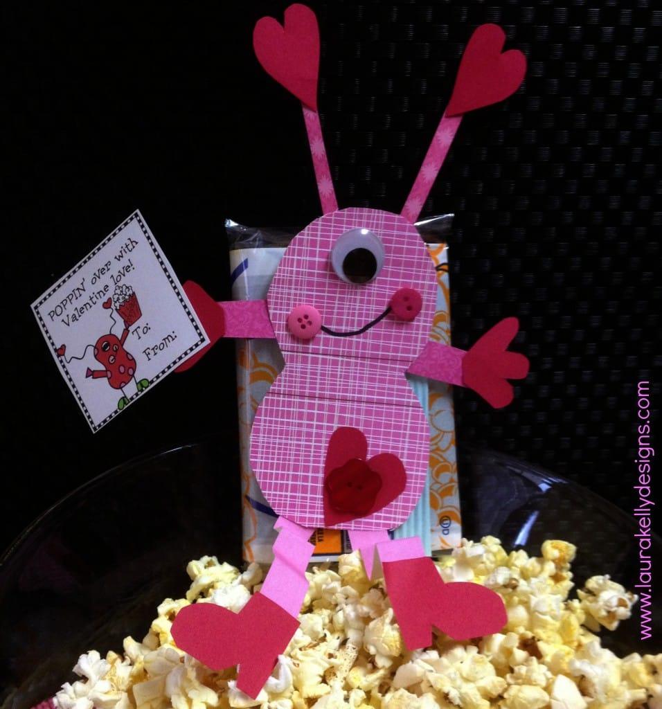 popcorn valentine card