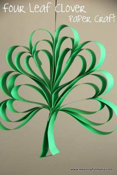 four leaf clover st patricks day craft