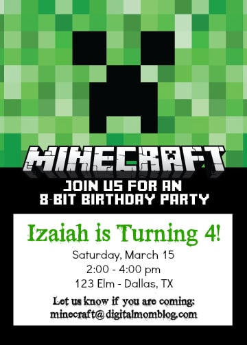 minecraft invitation