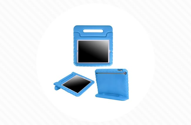 Blue kids ipad case with handle shock proof