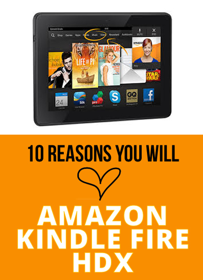 amazon kindle fire hdx tablet