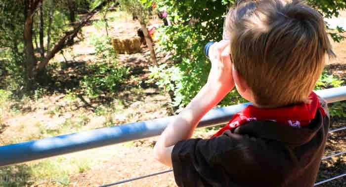 binoculars at austin family garden