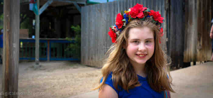 scarborough faire flower head band