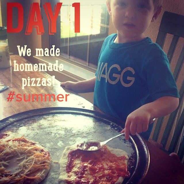 homemade pizza summer bucket list idea