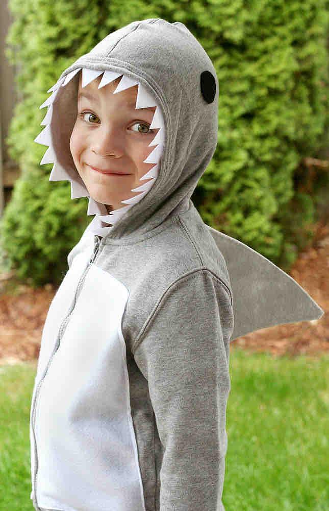 diy shark costume