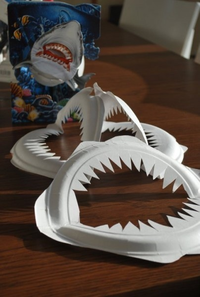 Shark Mouth Paper Plate Craft