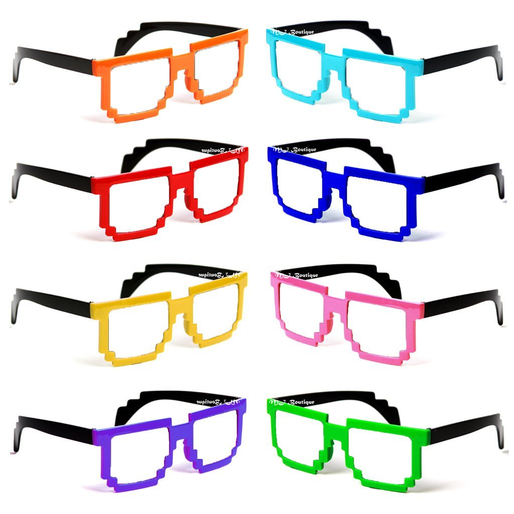 Minecraft Pixel Glasses perfect for party favors!