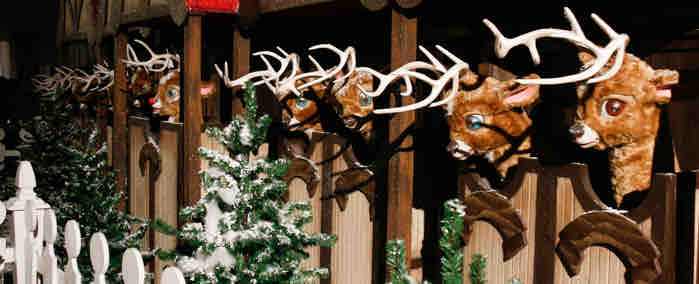 Animated reindeer at the Hilton Anatole