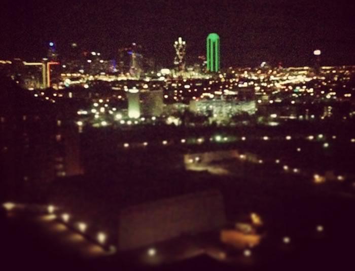 downtown dallas view anatole