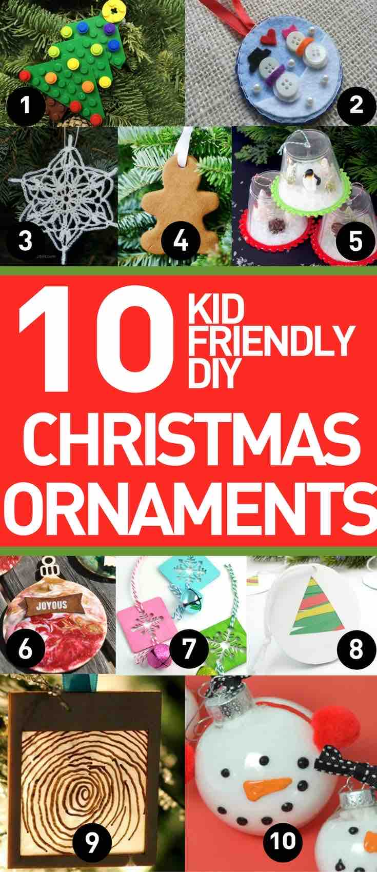 DIY Christmas Ornaments to Make with the Kids