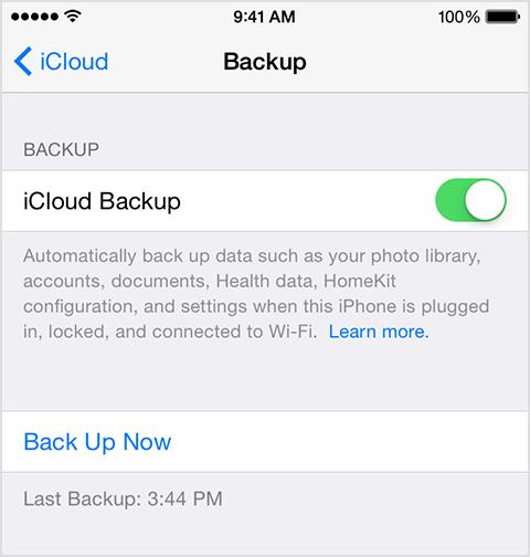 setup backup on new phone