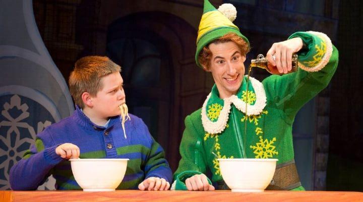 elf on broadway in dallas buddy the elf spaghetti syrup