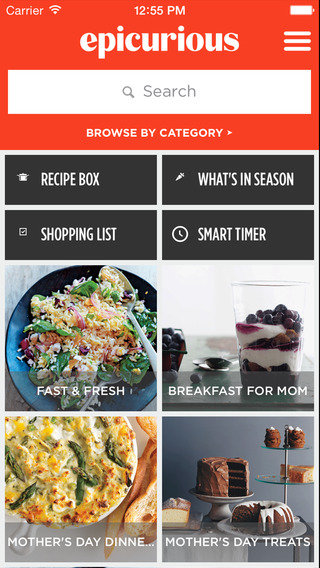 epicurious app - Thanksgiving Dinner Apps